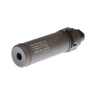 SureFire型 QD Mockサプレッサー 128mm Short 14mm逆ネジフラッシュハイダー付 (CB)  Clone Tech製|airsoftclub