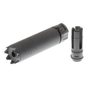 SureFire型 SOCOM556 Mini Monsterサプレッサー 5.3in 14mm逆ネジフラッシュハイダー付 (BK)  Clone Tech製|airsoftclub
