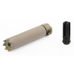 SureFire型 SOCOM556 Monsterサプレッサー 6.5in 14mm逆ネジフラッシュハイダー付 (DE)  Clone Tech製|airsoftclub