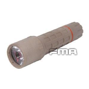F2フラッシュライト CreeQ4 高輝度LED装備 CR123A電池×2本 (別途) DE  FMA製|airsoftclub