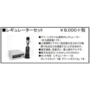 レギュレーターセット(74g グリーンガス専用)  SunProject製 - お取り寄せ品|airsoftclub