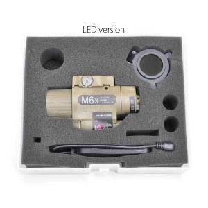 M6Xタイプ LEDフラッシュライト (リモートSW IRフィルター付) FDE  POT製|airsoftclub