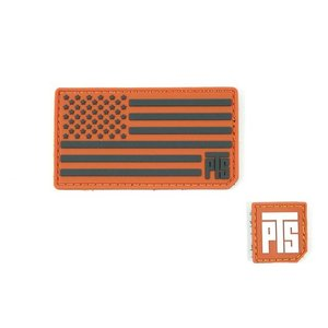 [Patches] PVCフラッグパッチセット PVC Flag Patch with 1in Tab Patch Orange  PTS-MAGPUL製|airsoftclub
