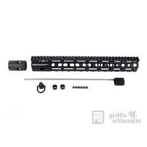 PTS Griffin Armament LowPro RIGID M-LOK レイルハンドガード 13.5in (BK)  PTS製|airsoftclub