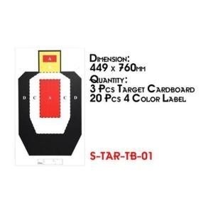 Sターゲットボード 01 (760mm×449mm ペーパースタンド付)  Star Airsoft製|airsoftclub
