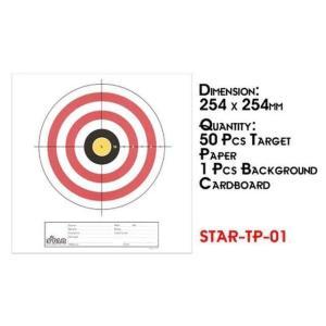 Sターゲットペーパー 01 (254mm×254mm 50枚)  Star Airsoft製|airsoftclub