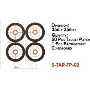 Sターゲットペーパー 02 (356mm×356mm 50枚)  Star Airsoft製|airsoftclub