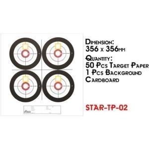 Sターゲットペーパー 05 (584mm×438mm 25枚)  Star Airsoft製|airsoftclub