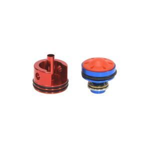 一体型サイレントシリンダーヘッド/ピストンヘッドヘッドセット (アルミCNC ラバーバンパー Ver.2)  SHS製|airsoftclub