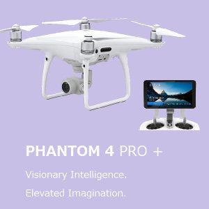 DJI Phantom4 PRO PLUS 専用ディスプレイ付き送信機付 5方向障害物探知 4Kビデオ 1インチCOMSセンサー搭載 カメラ付き ドローン
