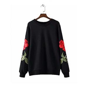■商品詳細 Design: Printed Rose on Sleeve, Casual Long ...