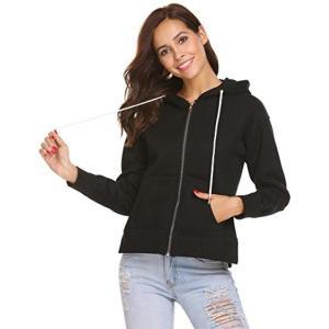 Easther Women's Warm Heavy Blend Full-Zip Hoodie H...