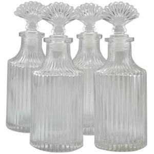4個セット高級アロマ精油拡散ボトル、オフィス、ショップ、ホーム高品位アロマガラスボトル 200ml airymotion