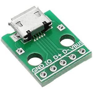 Prament マイクロ USB は、はんだ付けアダプターボードで 2.54 mm ピンをディップするメスソケット B 型マイク5p|airymotion