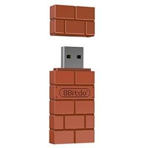 8Bitdo ワイヤレス BT アダプタ Nintendo Switch Windows Mac Raspberry Pi (ブラウン 1)|airymotion