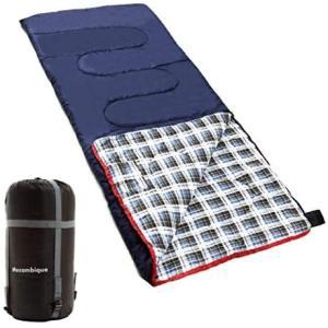 Mozambique(モザンビーク) 寝袋 シュラフ コンパクト 封筒型 キャンプ 登山 車中泊 防災用 丸洗い 綿 (ネイビー 2人用)|airymotion