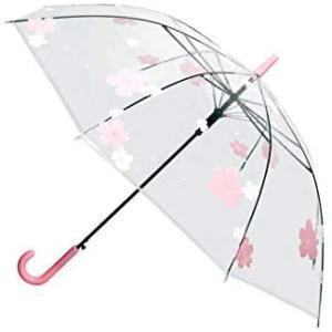 透明傘 大きいサイズ 長傘 ジャンプ傘 おしゃれ ドーム型 高強度グラスファイバー採用 梅雨対策 バブルアンブレラ U-PICK (花が満ちる)|airymotion