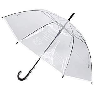 透明傘 大きいサイズ 長傘 ジャンプ傘 おしゃれ ドーム型 高強度グラスファイバー採用 梅雨対策 バブルアンブレラ U-PICK 女用の傘(クリア)|airymotion