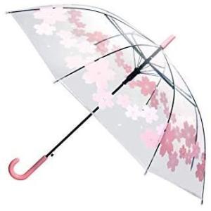 透明傘 大きいサイズ 長傘 ジャンプ傘 おしゃれ ドーム型 高強度グラスファイバー採用 梅雨対策 バブルアンブレラ U-PICK 女用の傘(砕花環)|airymotion