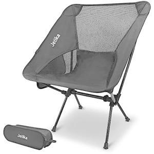 Jetika アウトドアチェア イス 超軽量 アルミ合金 コンパクト 折りたたみ椅子 キャンプ椅子 ポータブルチェア (Black) airymotion