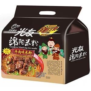 光友綿陽米粉 牛肉米粉 米粉 牛肉米粉 即席ビーフン 含量135g(春雨70g、調味料65g) x4袋 1大包里内有4小袋 有料 非油炸|airymotion
