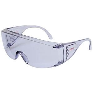 セフティー3 ガーデングラス くもり止め付き クリア メガネの上からかけられるタイプ G-7 (クリア)|airymotion