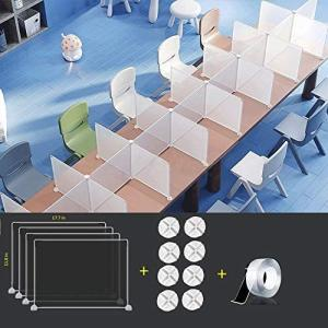 透明アクリル板採用デスクパーティション 衝突防止 飛沫防止 透明仕切り板 デスク用仕切り板 衝立 コロナ対策 飛沫防止組立式 設置簡単 オフィス|airymotion