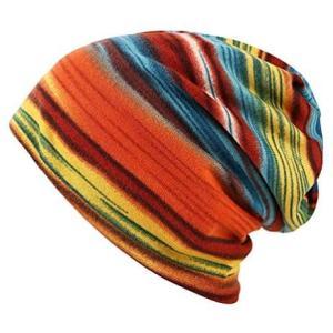 [ルビタス] カラフル ニット帽 ワッチ キャップ ぼうし ビーニー 帽子 ネック ウォーマー (オレンジ系 Free Size)|airymotion