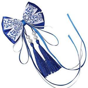 PANCY 髪飾り 浴衣 和装 七五三 お宮祭り 胡蝶しのぶ 成人式 振袖 卒業式 着物 (ブルー)|airymotion