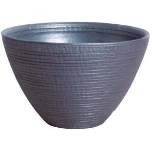 プラスガーデン 水蓮鉢 シェル Φ300mm 底穴なし ブラック 信楽焼 530-02 (ブラック)|airymotion