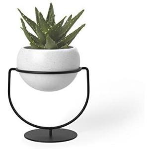 umbra 花器 植木鉢 鉢植え用 プランター スタンド付 インテリア ホワイト S NESTA 21009251748(ホワイト Small)|airymotion