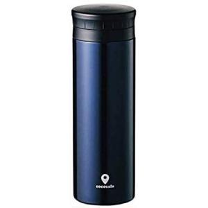 ステンレス マグ ボトル 水筒 スリムボトル 保冷 保温性に優れた真空2重構造 軽量約260g 広口タイプで洗いやすい (ネイビー) airymotion