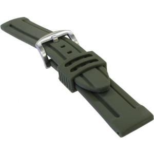 BAMBI バンビ 時計バンド シリコン アーミーグリーン 22mm 美錠 シルバー BG007Q-U (アーミーグリーン 22) airymotion
