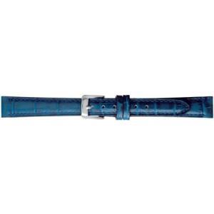 BAMBI バンビ 時計バンド 牛革 型押 スコッチガード 撥水 ネイビー 14mm 美錠 ゴールド (ネイビー 美錠:ゴールド) airymotion