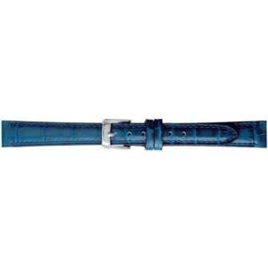 BAMBI バンビ 時計バンド 牛革 型押 スコッチガード 撥水 ネイビー 15mm 美錠 ゴールド (ネイビー 美錠:ゴールド) airymotion