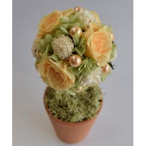 カーネーション パープルグラデーション プリザーブドフラワーアレンジメント アンティーク風の白い花器 大人可愛い色合い|aisaisai|02