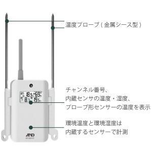 エー・アンド・デイ ワイヤレスマルチチャンネル温湿度計 増設用子機 AD-5663-01