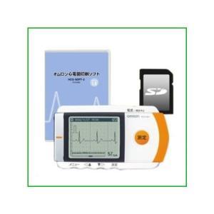 オムロン 携帯型心電計 HCG-801 心電図印刷ソフト+SDセット