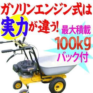 はね上げ機能付 パワフルガソリンエンジン式 ネコ車  歩行型運搬車/動力・手押し・ダンプ・農機具・農業機械|aishinshop