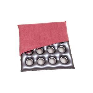 介護用品 床ずれ防止 クッション  エアークッション「タフ」タオル地カバー付き 画像1 16穴タイプ