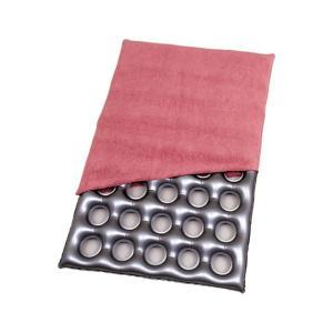 介護用品 床ずれ防止 クッション  エアークッション「タフ」タオル地カバー付き  画像2  40穴タイプ(ポンプ付き)