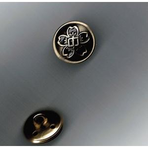 学生服桜ボタン・大ボタン 中学生用胸ボタン 【クリックポストで送料164円】|aisle