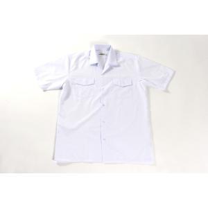 日本製男子半袖開襟シャツ両ポケット雨蓋付き 120A・130A・140A 小学生用 ノンアイロン 日清紡 学生シャツ|aisle