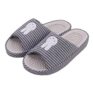 スリッパ ミッフィー ニット ボーダー 健康 コンフォート かわいい 室内 Mサイズ|aislipper