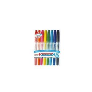 シモジマ マーカー サインペン WYTS5−8C 紙用マッキー極細 8色セット 1セット×1セットの商品画像|ナビ