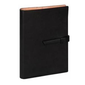 ダ・ヴィンチ グランデ A5サイズ システム手帳 アースレザー ブラック DSA1702B 【レイメイシステム手帳】|aisol33