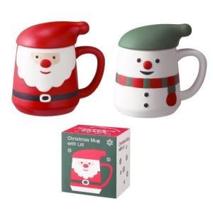 クリスマス フタ付マグカップ  【ご注文単位 20個以上】|aisol33