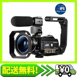 ORDRO AC3ビデオカメラウルトラHD 4kカムコーダー、マイク、1080P 60fps、デジタルズーム、3.1イン・・・|aito-create