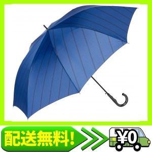 [ムーンバット] MIZUNO ミズノ 耐風ジャンプ長傘 ななめストライプ柄 大きいサイズ70cm 風に強い 丈夫 メンズ・・・ aito-create