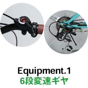 折りたたみ自転車 20インチ シマノ6段変速 ...の詳細画像3
